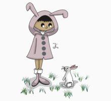 Hoodie Girl -- Bunny by BlackRose108