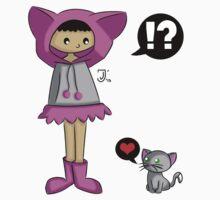 Hoodie Girl -- Cat by BlackRose108