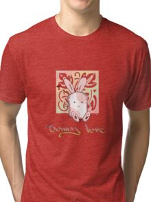 Pink Marshamallow Bunny Love Tri-blend T-Shirt