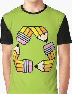 Creativity Cycle (Yellow School Pencil) Graphic T-Shirt