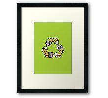 Creativity Cycle (Yellow School Pencil) Framed Print