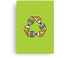 Creativity Cycle (Yellow School Pencil) Canvas Print