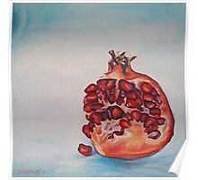 Pomegranate in Blue Light Poster