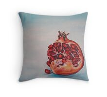 Pomegranate in Blue Light Throw Pillow