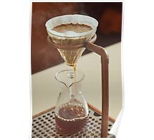 Steaming Filter Coffee Poster