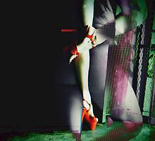 Red Heels at the door by AnkhaDesh