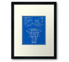 Transformers Patent - Blueprint Framed Print
