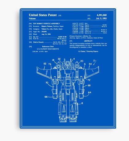 Transformers Patent - Blueprint Canvas Print