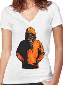 vulpes pilum mutat, non mores (Colour Shirt Version) Women's Fitted V-Neck T-Shirt