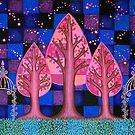Midnight in the Garden by Lisa Frances Judd~QuirkyHappyArt