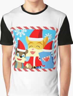 Minecraft Youtuber Stampy Cat, iBallisticsquid, L for Lee x (Christmas, Holiday, Winter Limited Edition) Graphic T-Shirt