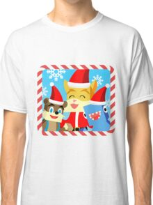 Minecraft Youtuber Stampy Cat, iBallisticsquid, L for Lee x (Christmas, Holiday, Winter Limited Edition) Classic T-Shirt