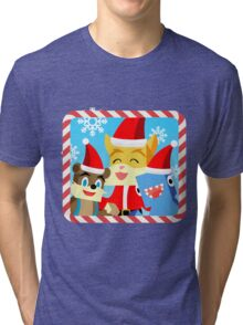 Minecraft Youtuber Stampy Cat, iBallisticsquid, L for Lee x (Christmas, Holiday, Winter Limited Edition) Tri-blend T-Shirt