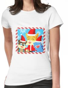 Minecraft Youtuber Stampy Cat, iBallisticsquid, L for Lee x (Christmas, Holiday, Winter Limited Edition) Womens Fitted T-Shirt