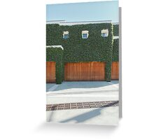 Overgrown Modern House Greeting Card