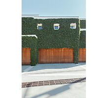 Overgrown Modern House Photographic Print