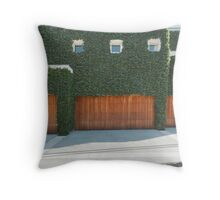 Overgrown Modern House Throw Pillow