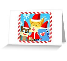 Minecraft Youtuber Stampy Cat, iBallisticsquid, L for Lee x (Christmas, Holiday, Winter Limited Edition) Greeting Card