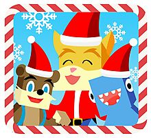 Minecraft Youtuber Stampy Cat, iBallisticsquid, L for Lee x (Christmas, Holiday, Winter Limited Edition) Photographic Print