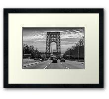 George Washington Bridge - New York City Framed Print