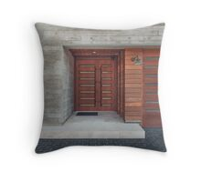 Modern House Entrance Throw Pillow