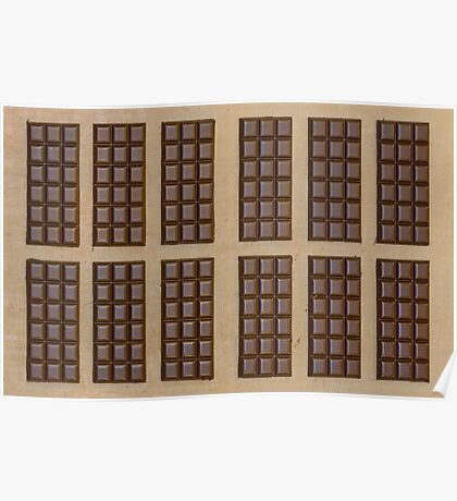 Twelve Chocolate Bars Poster