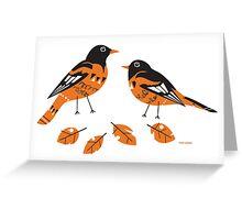 Retro Orioles Greeting Card