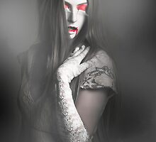 Dark fine art portrait. Beautiful vampire woman by Ryan Jorgensen