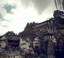 Mill Wheel, Lijiang by Sickee