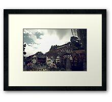 Mill Wheel, Lijiang Framed Print