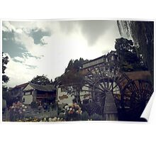 Mill Wheel, Lijiang Poster