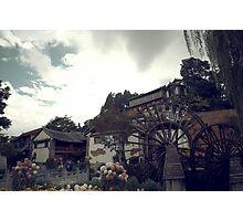 Mill Wheel, Lijiang Photographic Print