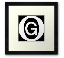 OG White Framed Print