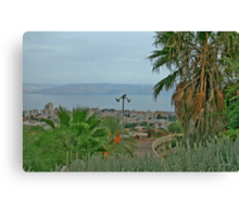 The way from Tveria to the Kineret Canvas Print