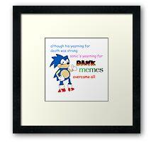 Dank Sonic Framed Print