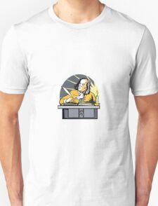 Ben Franklin Writing Retro Unisex T-Shirt