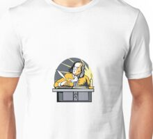 Ben Franklin Writing Retro Unisex T-Shirt