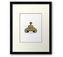 World War Two Battle Tank Framed Print