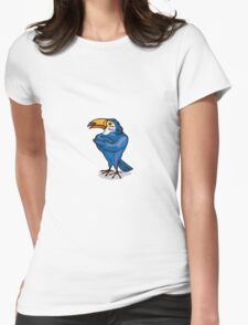 Toucan with Arms Folded Womens Fitted T-Shirt