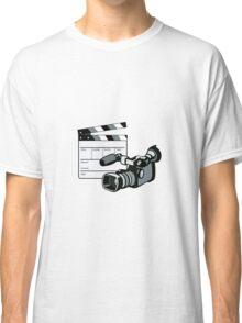 Video Camera Movie Clapboard Retro Classic T-Shirt