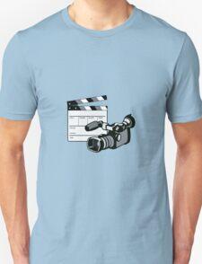 Video Camera Movie Clapboard Retro T-Shirt