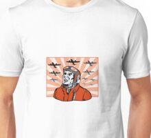 World War Two Pilot Airman Retro Unisex T-Shirt