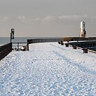 Ayr Harbour Pier in Winter by AyrshireImages