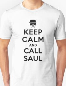 Keep Calm and Call Saul - black color T-Shirt