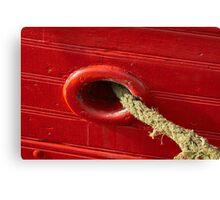 Ship anchor rope Canvas Print