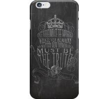 SHERLOCK chalkboard sketch iPhone Case/Skin