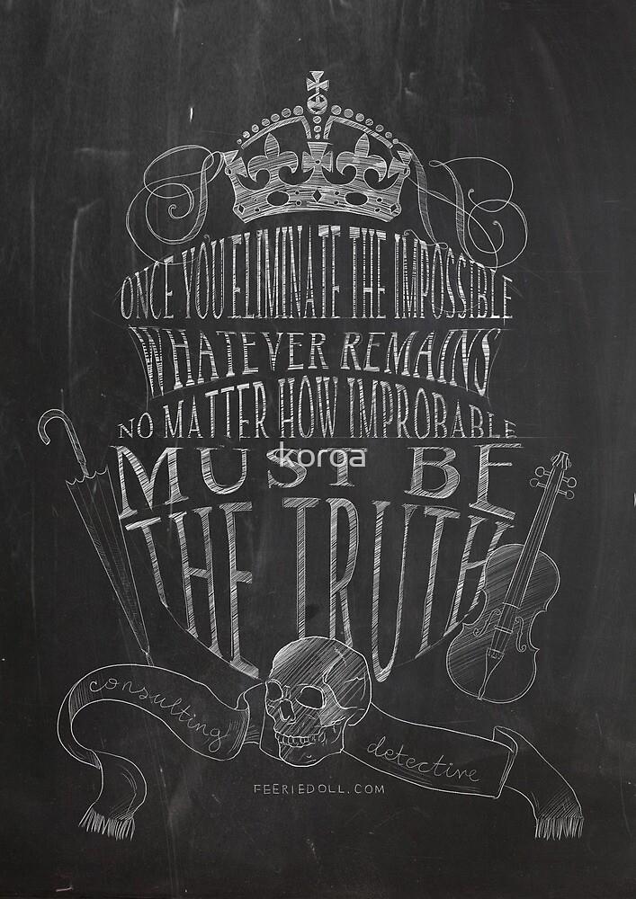 SHERLOCK chalkboard sketch by koroa