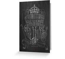 SHERLOCK chalkboard sketch Greeting Card