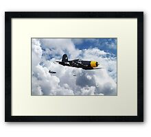 Vought Corsair - Mission Strike Framed Print