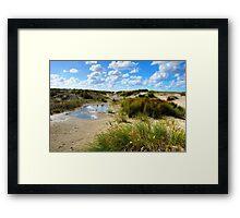 Dune valley Framed Print